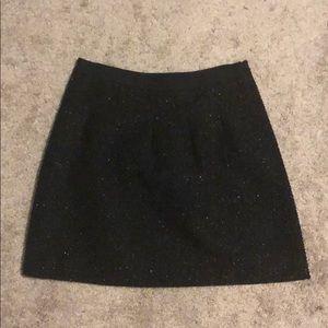 Sparkly black Loft skirt
